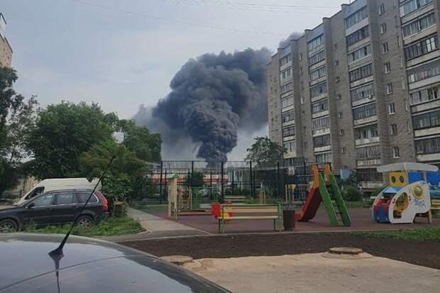 Еще один крупный пожар произошел в Новосибирске на территории металлургического завода (новость обновляется)