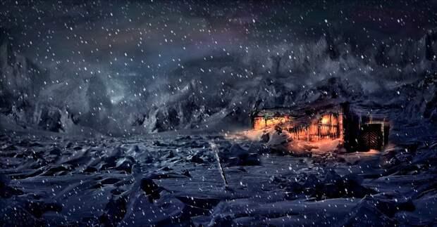 затяжная зима приносила славянам голод и смерть. С ней наедине во мраке ночи крестьянам зима казалась живой и зловещей...