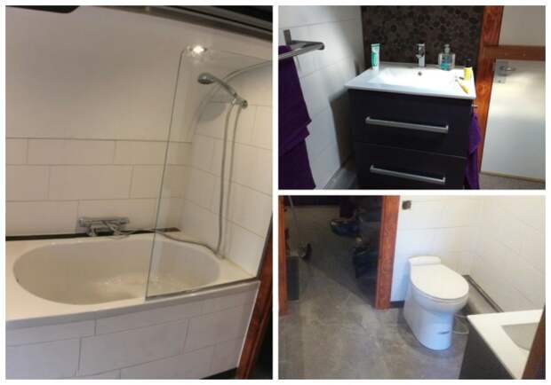 Ванная комната и санузел в доме на колесах. | Фото: suchen.mobile.de.