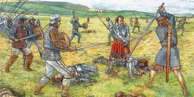 Битва при Флоддене, одно из крупных сражений 16 века между англичанами и шотл...