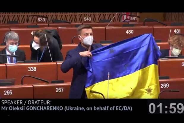 Представителю Украины в ПАСЕ закрыли рот и попросили из зала