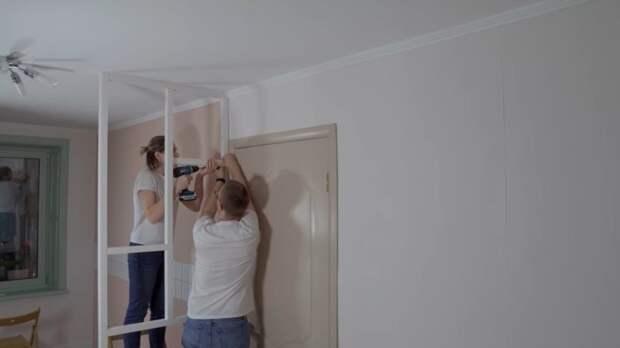 Как сделать в хрущевке из одной комнаты две? Простая перегородка своими руками