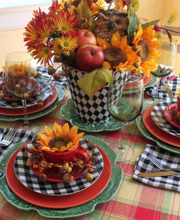 Осенний декор в стиле кантри