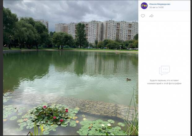 Фото дня: Ясный пруд после реконструкции