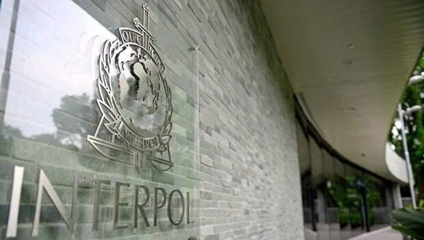 Логотип международной организация уголовной полиции – Интерпол. Архивное фото