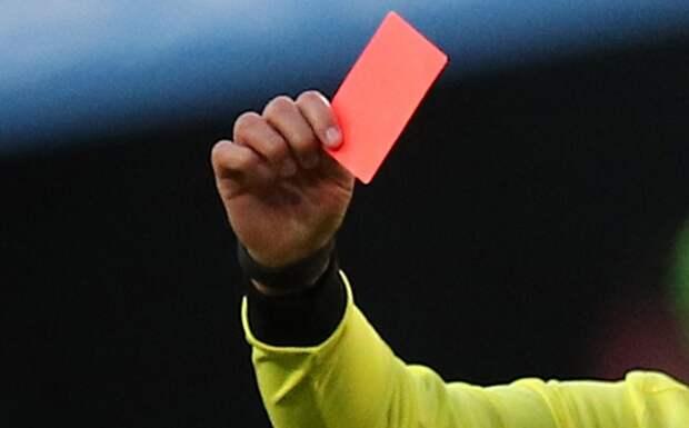 ВТурции вратарь получил красную карточку напервой минуте матча