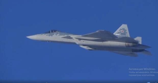Минобороны показало видео полётов Су-57 в Сирии