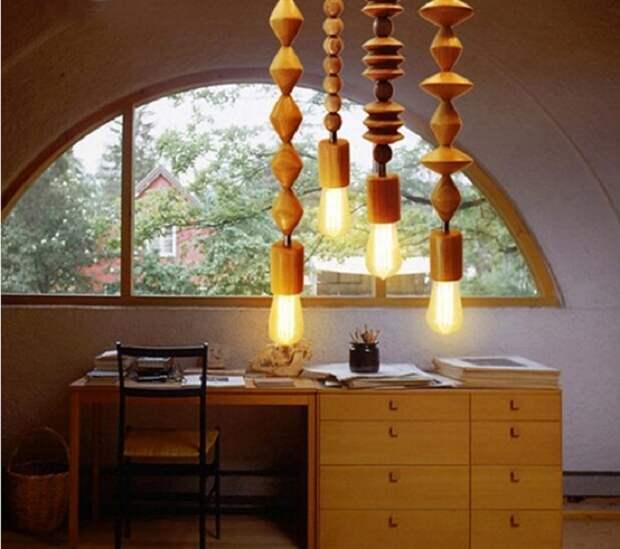 Интересное решение создать такие симпатичные лампы, что вдохнут новую жизнь в дизайн комнаты.