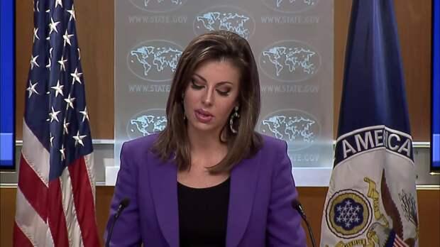 Морган Ортагус, спикер Государственного департамента США. Источник изображения: