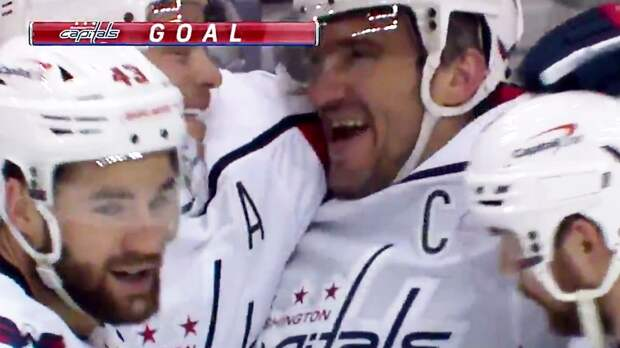 Овечкин с метра добил шайбу в пустые ворота «Питтсбурга». Это его первый гол в сезоне НХЛ: видео