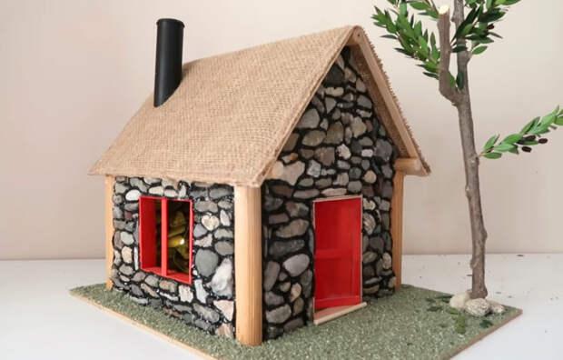 Делаем чудесный каменный домик-светильник