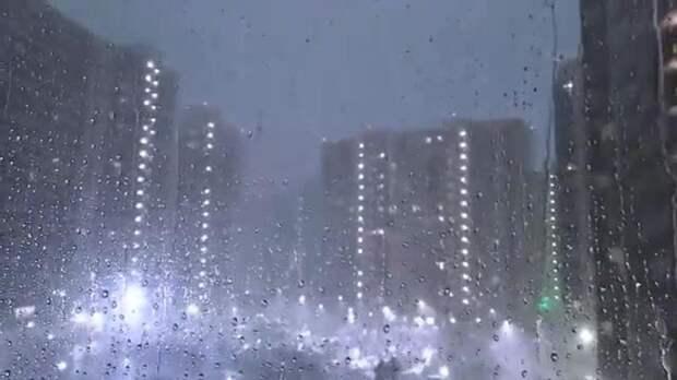 Вечерняя гроза охватила Петербург