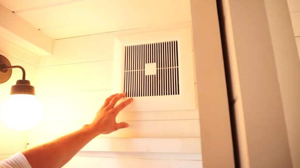 вентиляционная решетка в маленьком доме