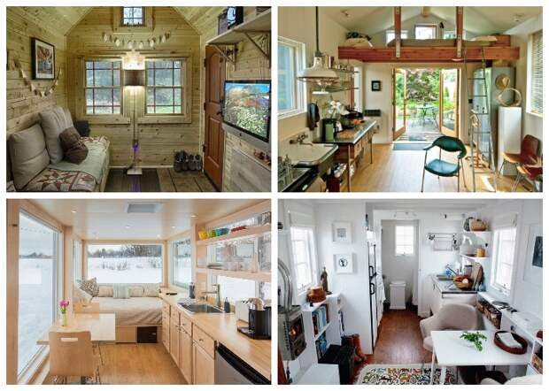 Маленькие домики могут быть и уютными и стильными. | Фото: pinterest.com.