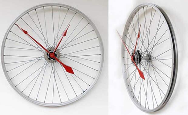 Настенные часы из старого велосипеда