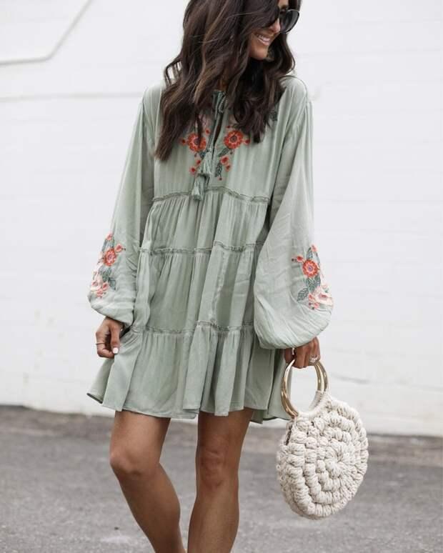 летнее платье с рукавами фото 7
