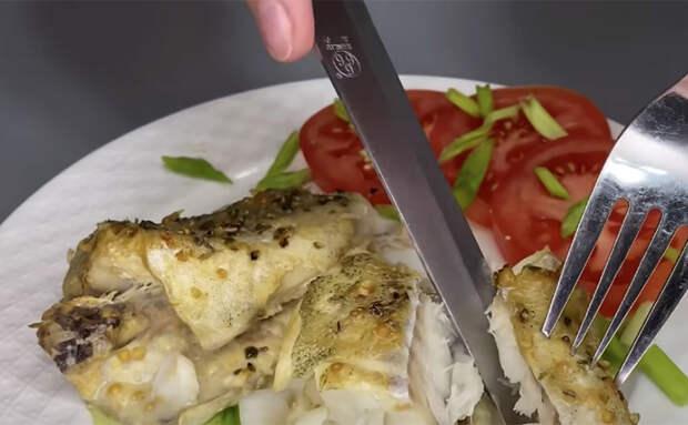 Смазываем минтай горчицей и запекаем: становится по вкусу как дорогая рыба
