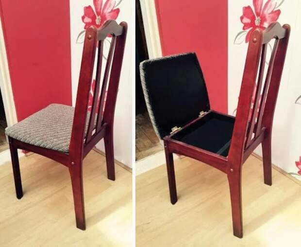 Обычный с виду стул тоже может стоять на охране ценных вещей.