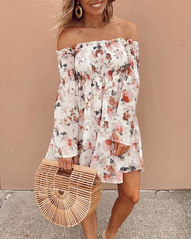 летнее платье с рукавами фото 11