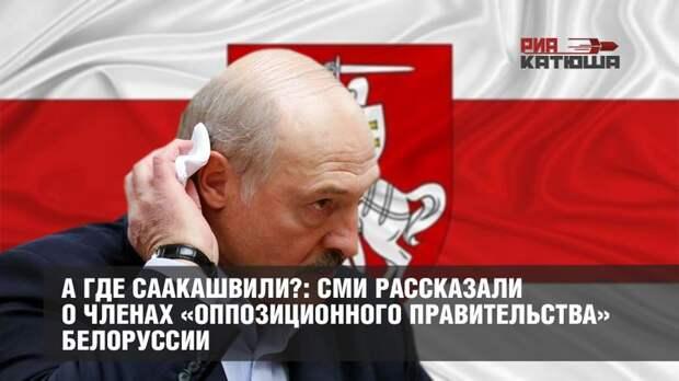 А где Саакашвили?: СМИ рассказали о членах «оппозиционного правительства» Белоруссии