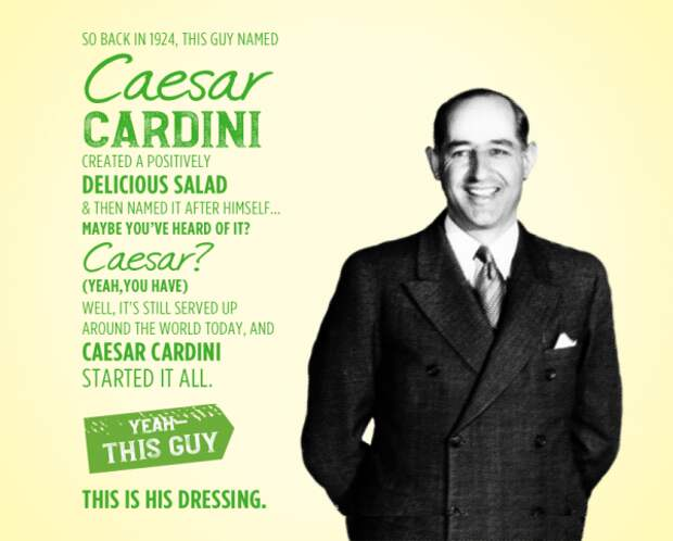 "Человек, который придумал салат ""Цезарь"""
