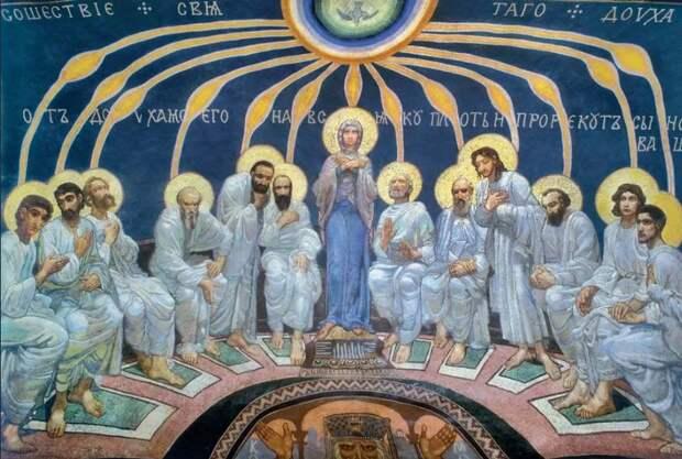 Врубель Сошествие Святого Духа на Апостолов. 1885 г.