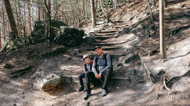 САКСОНСКАЯ ШВЕЙЦАРИЯ | ПЕЩЕРЫ | прогулка с сыном