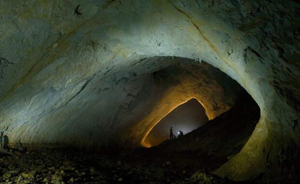 Пещера Мовиле На юго-востоке Румынии есть пещера, куда солнечный свет не проникал уже пять с половиной миллионов лет. Воздух здесь токсичен и заполнен сероводородом. Исследователи обнаружили совершенно уникальных созданий, каким-то образом сумевших приспособиться к жизни в таких странных условиях.
