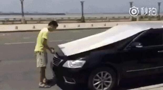 Защита машины от палящего солнца