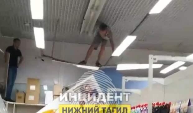 Неадекватный посетитель разгромил магазин вНижнем Тагиле
