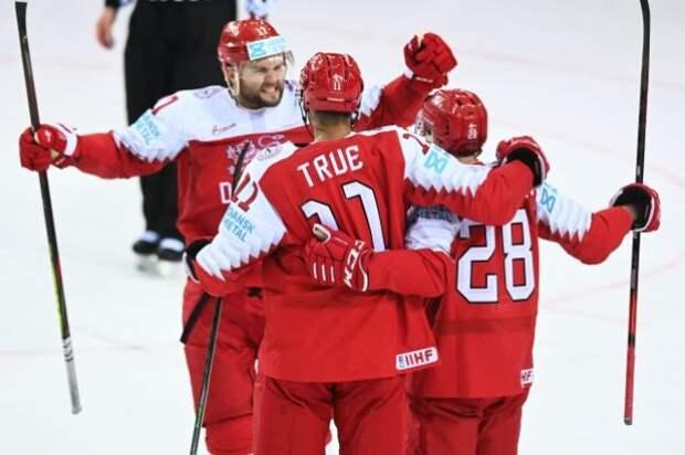 Сборная Дании впервые обыграла шведов на ЧМ по хоккею