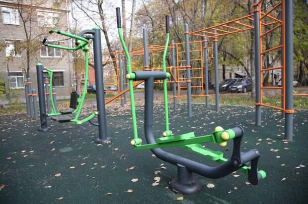 Во дворе в Савёловском построили спортивный городок