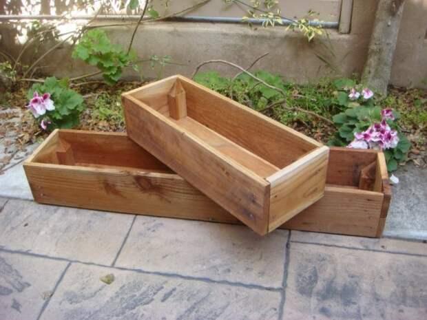 деревянные ящики для цветов и огорода