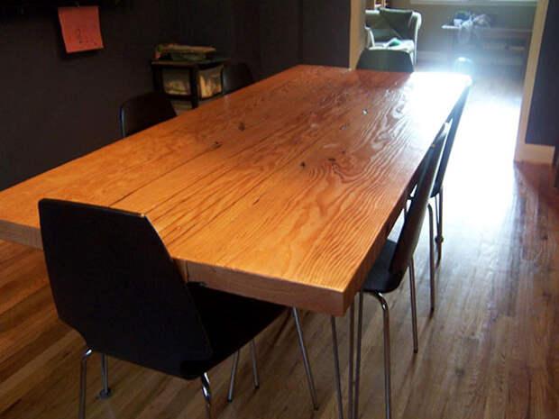 обеденный стол своими руками из дерева