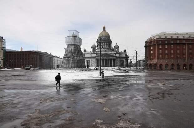 Ленинград 1942-2010 Исаакиевская площадь. У памятника Николаю I блокада, ленинград, победа