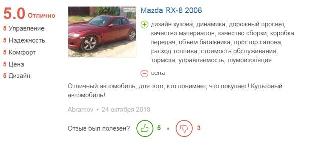 отзыв о Mazda RX-8