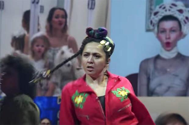 "Манижа во время репетиции своего номера на ""Евровидении"""
