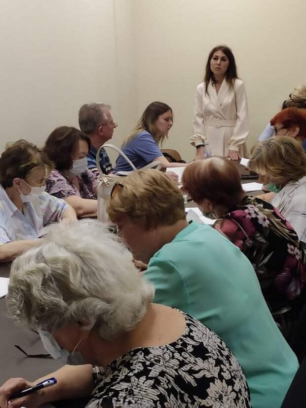 Общественные советники управы Ховрина вынесли на обсуждение вопросы жителей