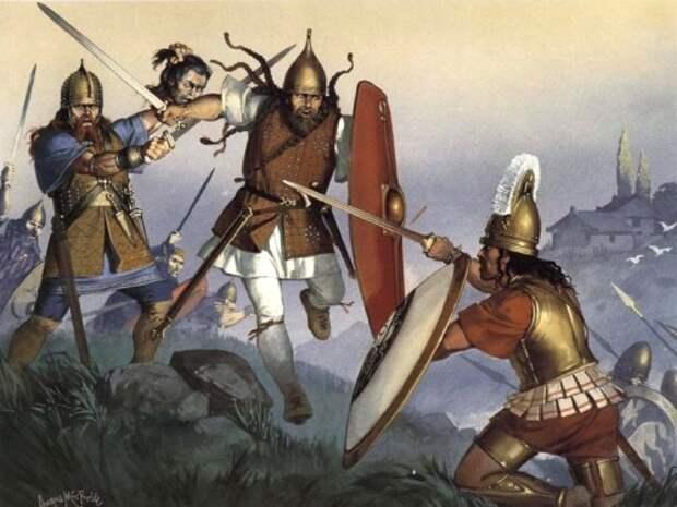 Кельты атакуют этрусков (Северная Италия, конец IV в. до н.э.)