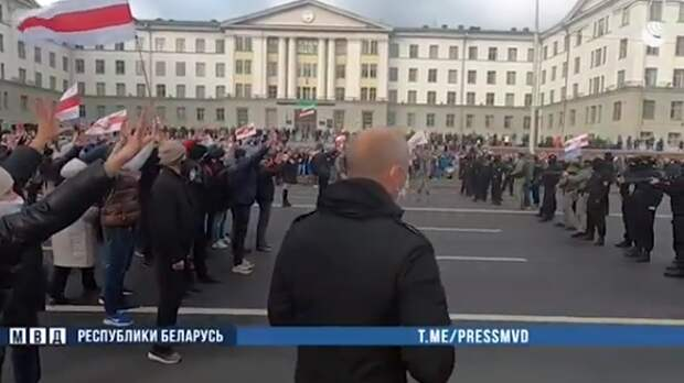 Протестующие в Минске использовали самодельное взрывное устройство