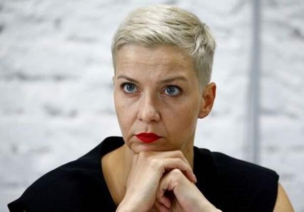 Белорусский оппозиционный лидер Мария Колесникова на пресс-конференции в Минске, 24 августа 2020 года. REUTERS/Vasily Fedosenko
