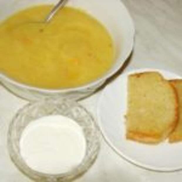 Суп из тыквы со сливками.