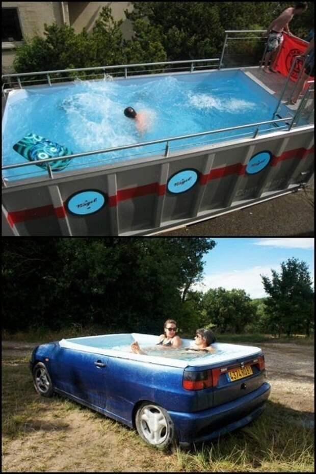 Интересные и простые идеи летнего душа и бассейнов для дачи