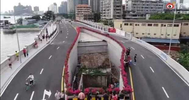 Жительница Китая пожадничала итеперь живет посреди шоссе
