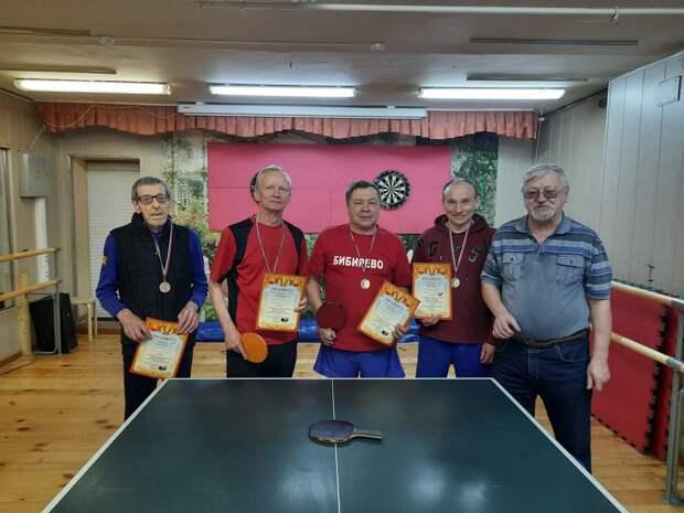 Пенсионеры из Алтуфьева соревновались в районном турнире по настольному теннису