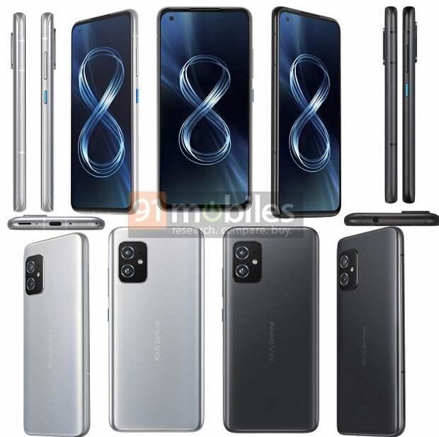 Экран 5,9 дюйма и масса всего 169 граммов, но при этом Snapdragon 888, 16 ГБ ОЗУ, 64 Мп и стереодинамики. Подробные характеристики Asus Zenfone 8