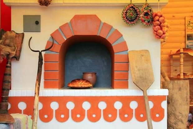 Русская печь в современном интерьере загородного дома (38 фото)