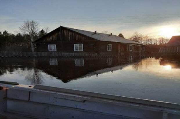 Один из посёлков Енисейского района начал уходить под воду