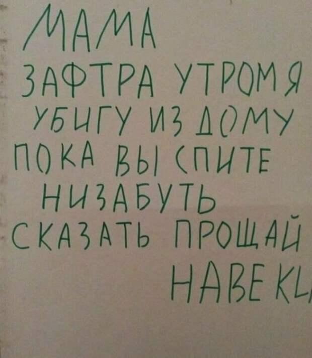 Обидка дети, детские записки, записки, записки от детей, прикол, ребенок, фото