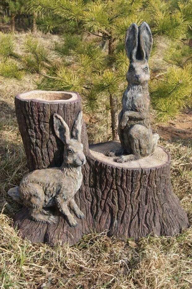Забавные скульптуры для сада: веселые идеи для вдохновения 0